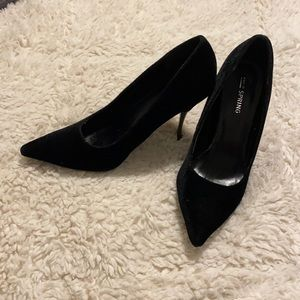 Call It Spring Suede Stiletto Heels Black Size 6